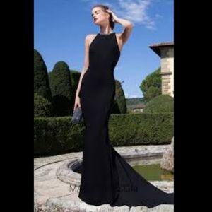 Calvin Klein Halter High Neck Gown 10
